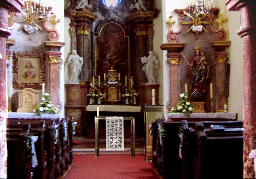 altarraumgestaltung kirche drassburg